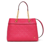 Quilted Leather Tote Fuchsia Size --