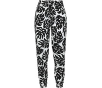 Printed Voile Beach Pants Black