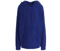 Knitted Hooded Sweater Royal Blue