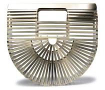 Woman Ark Metal Clutch Platinum