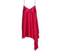 Draped silk-satin camisole