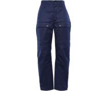 Twill Straight-leg Pants Navy