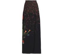 Printed crepe maxi skirt
