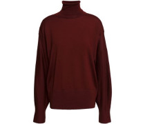 Wool Turtleneck Sweater Burgundy