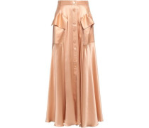 Woman Silk-satin Maxi Skirt Rose Gold