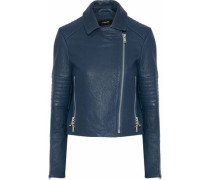Aiah textured-leather biker jacket