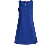 Stretch-cotton Mini Dress Royal Blue