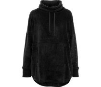 Fleece hooded pajama top
