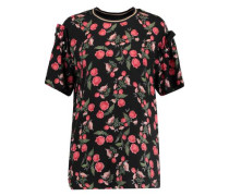 Cleve floral-print twill top