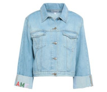 Embroidered Denim Jacket Light Denim