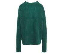 Woman Oversized Ribbed Mohair-blend Sweater Emerald