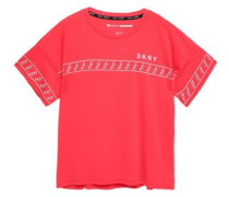 Woman Mélange Stretch-cotton And Modal-blend Jersey T-shirt Tomato Red