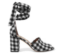 Odele gingham canvas sandals