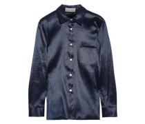 Satin-twill Shirt Midnight Blue