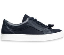 Paneled quilted suede sneakers