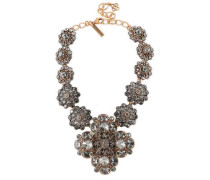 Silver-tone Crystal Necklace Gold Size --