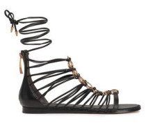 Woman Tilly Embellished Leather Sandals Black