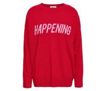 Intarsia Wool And Cashmere-blend Sweater Red