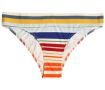Striped low-rise bikini briefs
