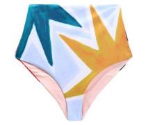 Printed high-rise bikini briefs