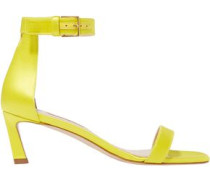 Woman Satin Sandals Bright Yellow