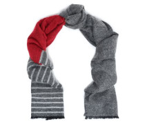 Striped Intarsia-knit Scarf Red Size --