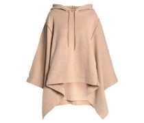 Cotton-blend hooded poncho