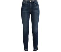 Cropped High-rise Skinny Jeans Dark Denim  5