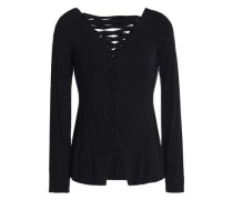 Kabuki lace-up jersey top