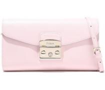 Metropolis Textured-leather Shoulder Bag Pastel Pink Size --