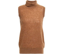 Tabitha Cashmere-blend Turtleneck Top Light Brown