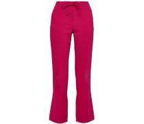Crepe Bootcut Pants Magenta Size 0