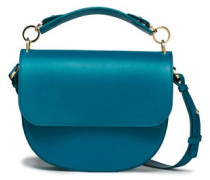 The Bow Leather Shoulder Bag Turquoise Size --