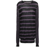 Striped Cotton And Cashmere-blend Sweater Black
