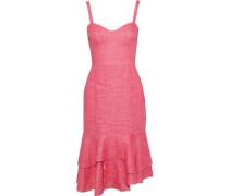 Kendal Fluted Linen Dress Pink