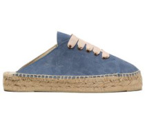Hamptons Suede Espadrille Slip-on Sneakers Azure