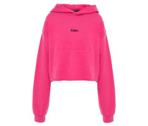 French Cotton-terry Hoodie Fuchsia