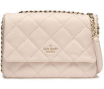 Chain-trimmed Quilted Leather Shoulder Bag Cream Size --