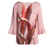 Printed Twill Blouse Baby Pink