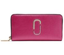 Two-tone Textured-leather Wallet Fuchsia Size --