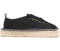 Metallic canvas espadrilles