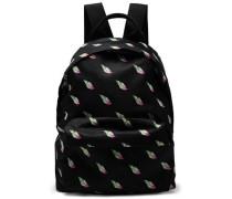 Woman Printed Shell Backpack Black