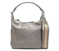 Leather Shoulder Bag Gray Size --