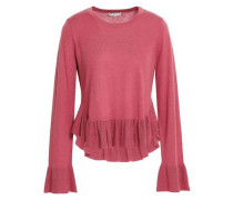 Iona Wool And Silk-blend Peplum Sweater Antique Rose
