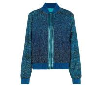 Brandy embellished tinsel bomber jacket