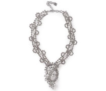 Loraine Silver-tone Crystal Necklace Silver Size --
