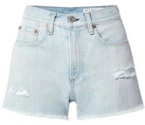 Justine Distressed Denim Shorts Light Denim  3