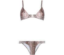 Cutout triangle bikini