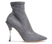 Suede Ankle Boots Gray