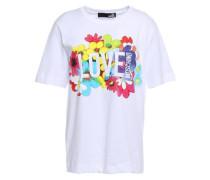 Printed Cotton-jersey T-shirt White